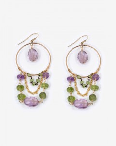 Amethyst_Peridot_Hoop_Earrings_S49
