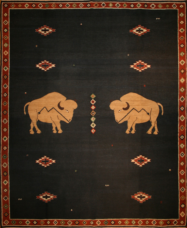 Double Buffalo, Indigo Red Brown
