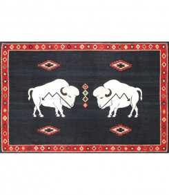 Double Buffalo, Indigo White