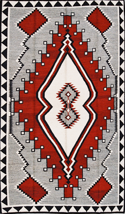 Ganado Hourglass, Grey Red