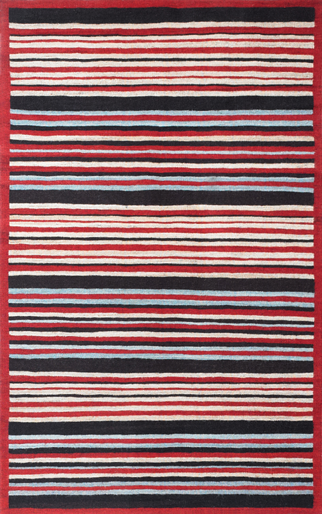 Stripes Border, Red Chocolate Cadet