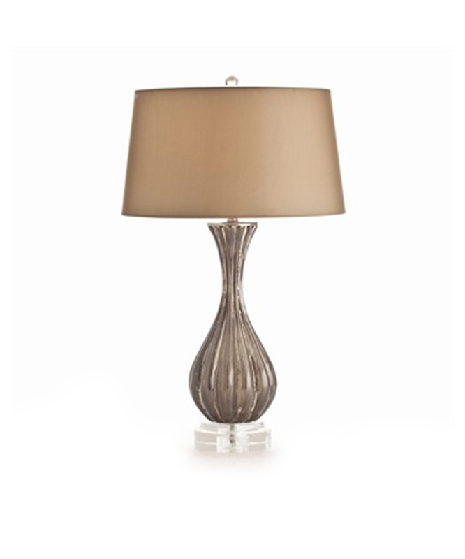 Silver Ribbed Lamp