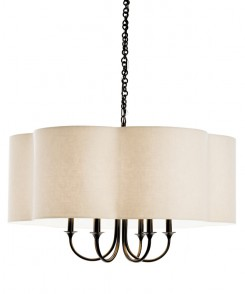 Scalloped Chandelier Bronze
