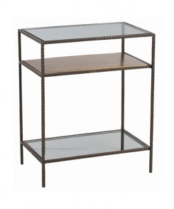 Hammered Iron Side Table