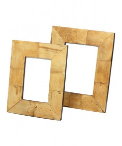 Burnt Horn Tile Picture Frame