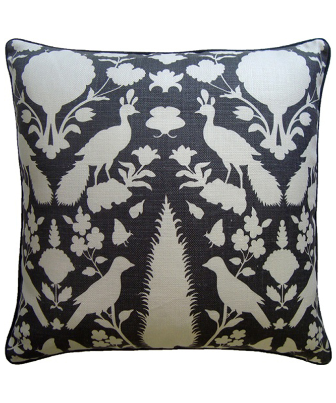 Botanical Pillow Charcoal