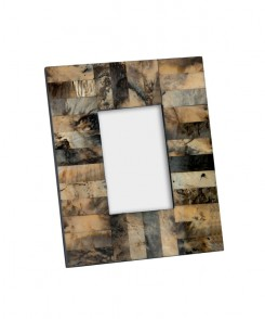 Square Horn and Resin Picture Frame