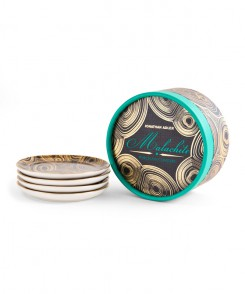 Malachite Coaster Set