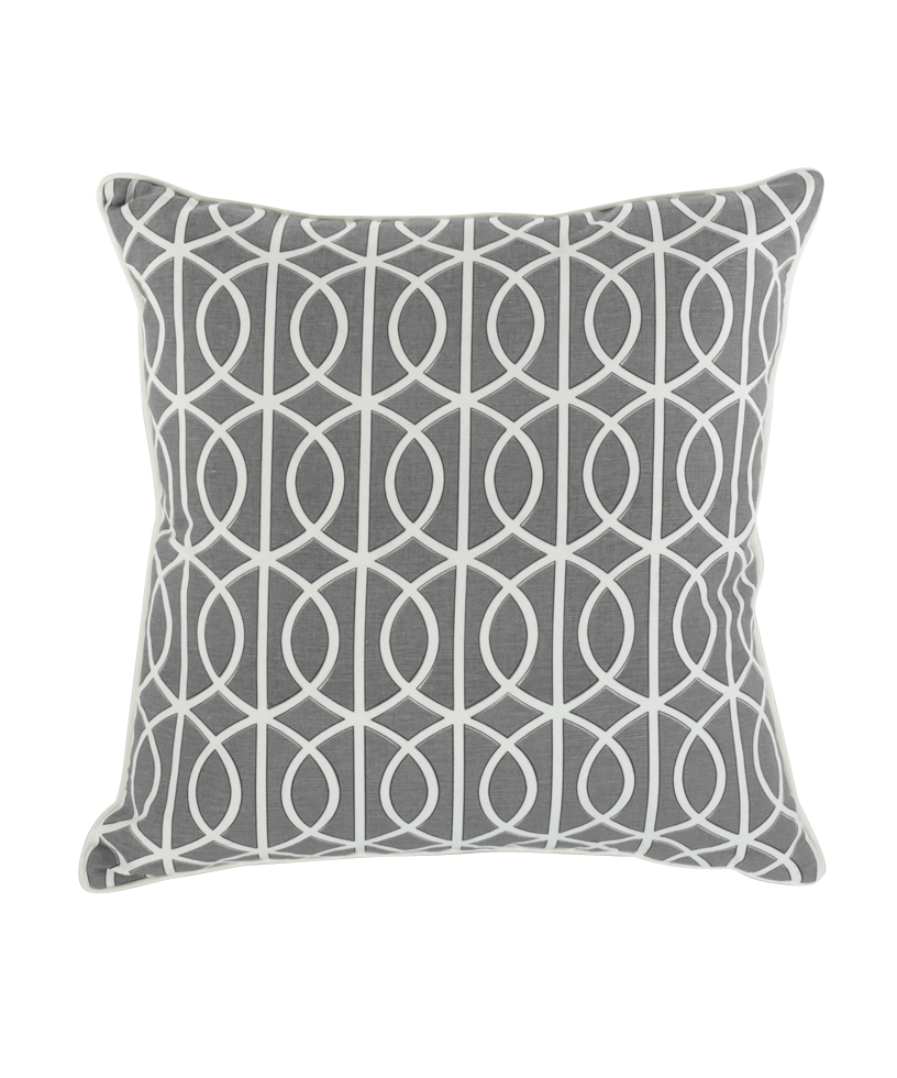 Moire Charcoal Pillow