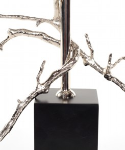 Twig Candle Holder Silver