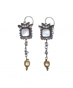 1363-25_Pearl_&_Silver_Drop_Earrings