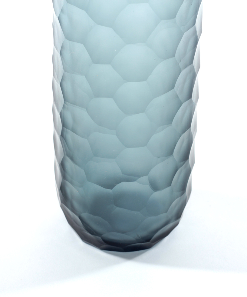 Glass Honeycomb Vase
