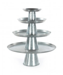 Silver Tiered Trays