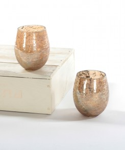 Champagne Mercury Glass Tealight Holder