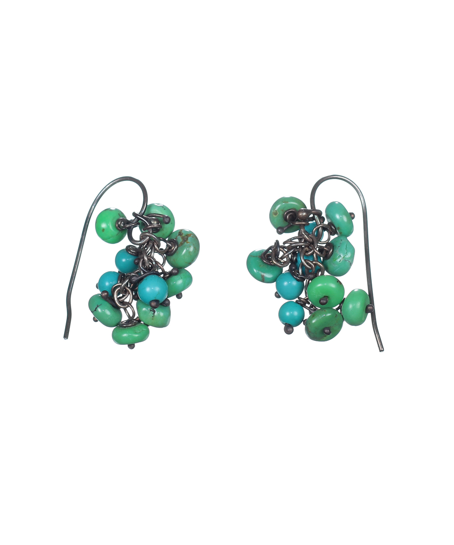 blue green turquoise earrings kurtz collection