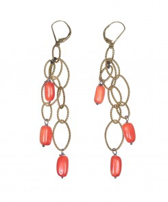 5426-25_Coral__Gold_Loop_Earrings