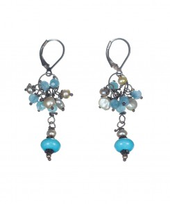 5428-25_Chalcedony_&_Pearl_with_Turquoise_Drop_Earrings