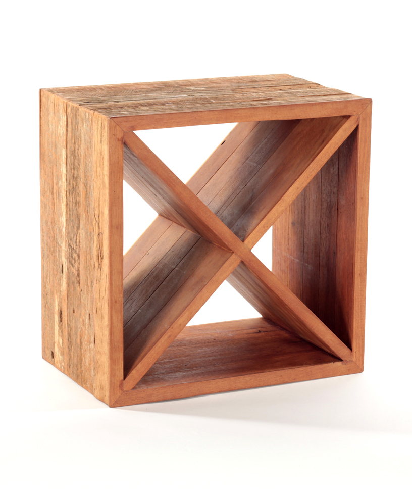 recycled wood wine cube kurtz collection