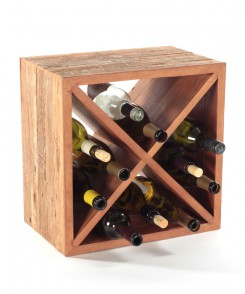 Recycled Wood Wine Cube