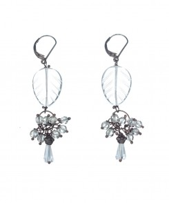 Etched Crystal Earrings
