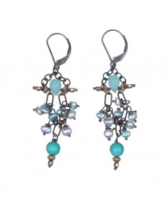 919-25_Turquoise_&_Chalcedony_Earrings