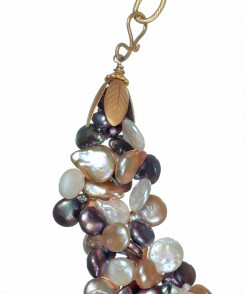Multi-Colored Coin Pearl Necklace