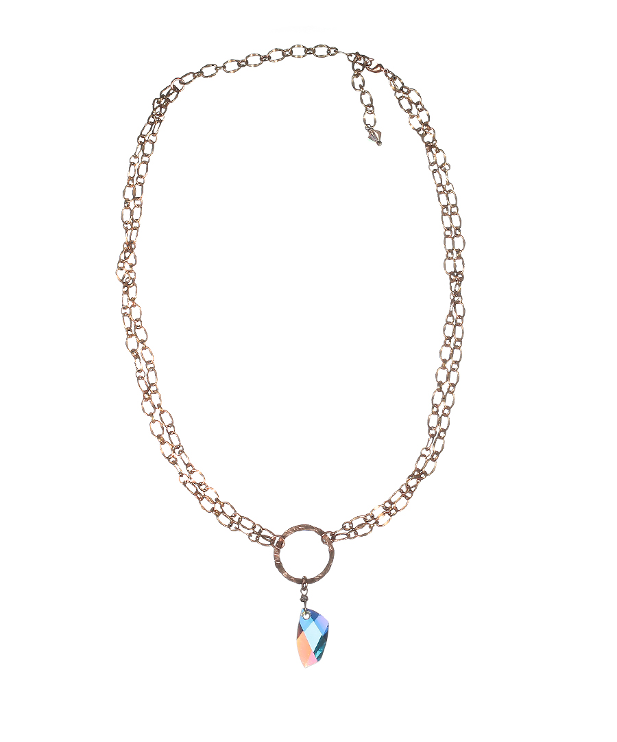 1761-40_Plated_Rose_Gold_Necklace_with_Swarovski_Crystal_1.jpg | 1761-40_Plated_Rose_Gold_Necklace_with_Swarovski_Crystal_2.jpg