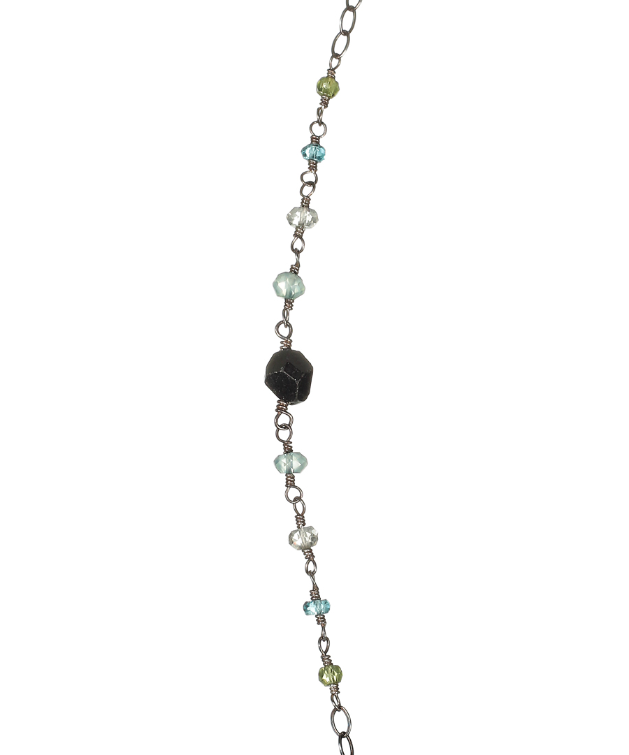 Mixed Blue and Green Stone Necklace