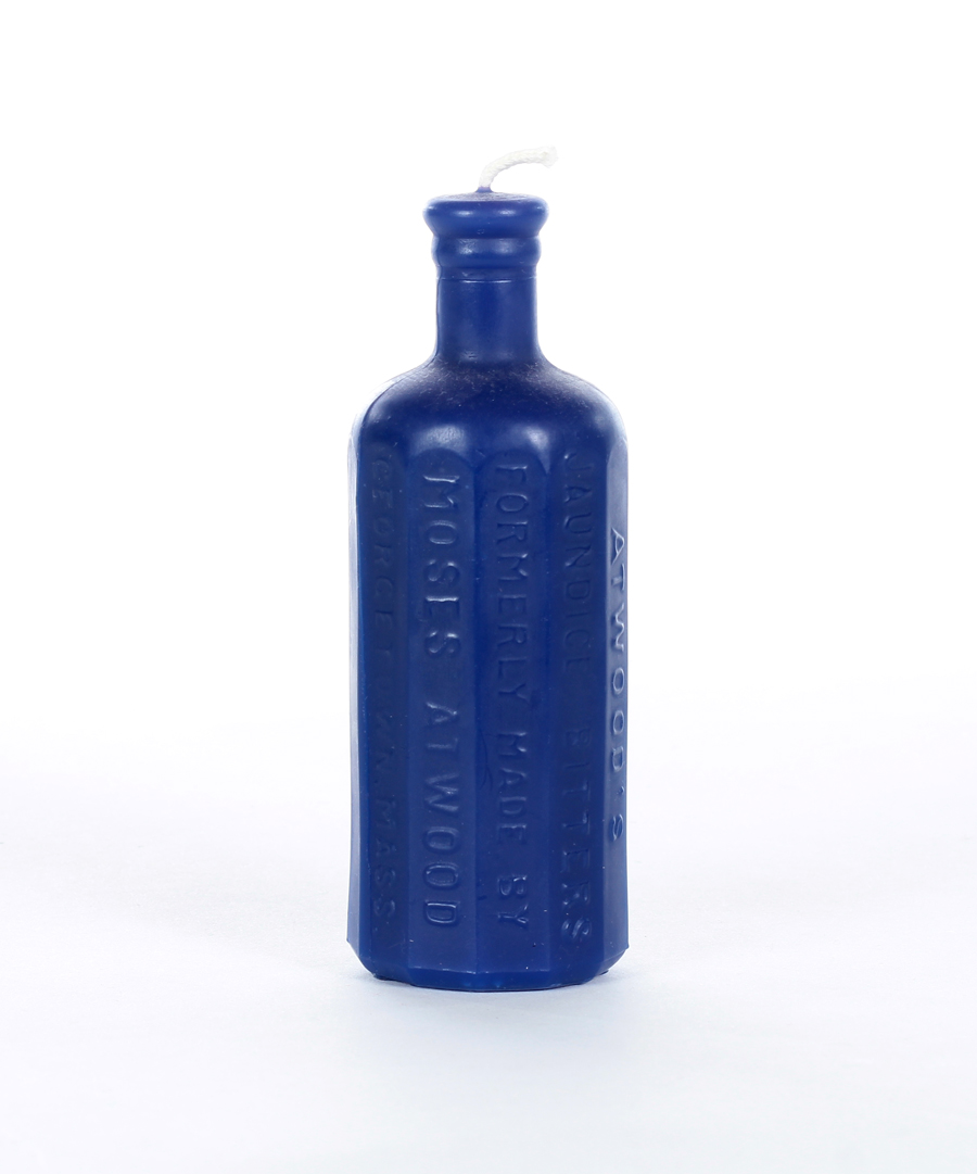 Cream Bitters Bottle Candle