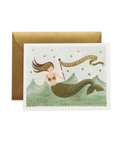 Vintage Mermaid Card