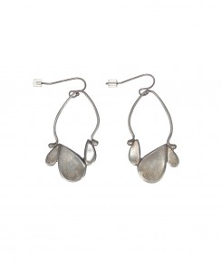 Teardrop Earrings with Satin Finish