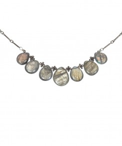 Teardrop Labradorite Necklace