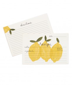Lemons Recipe Cards