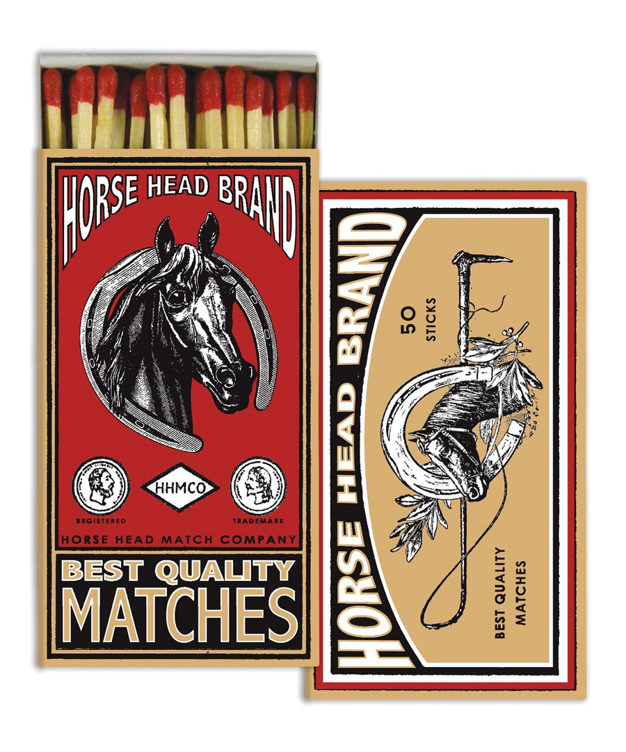 The Horse Head Brand Matches
