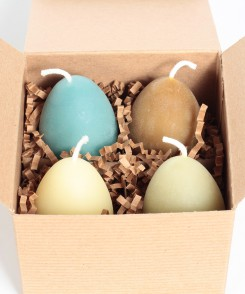 Assorted Egg Shaped Candles