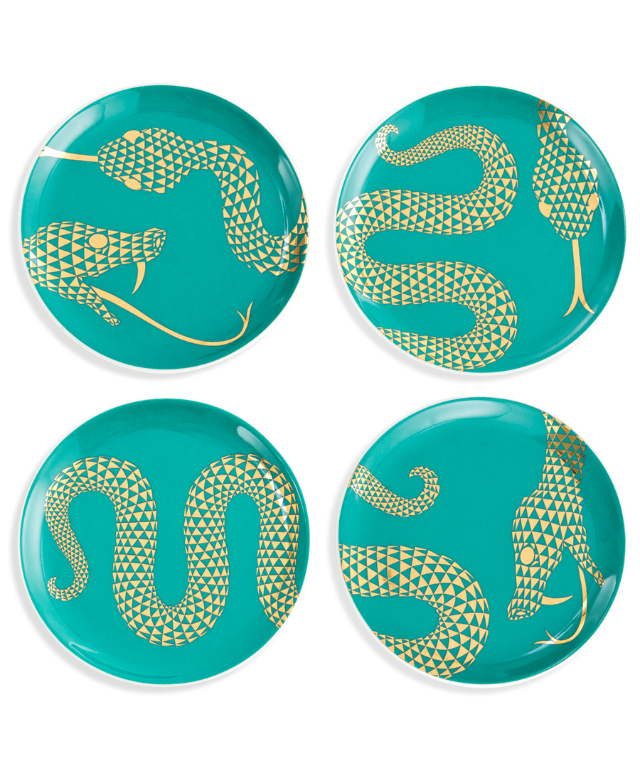 Teal Serpentine Coaster Set