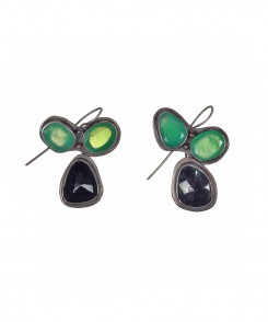 Green and Black Onyx Earrings