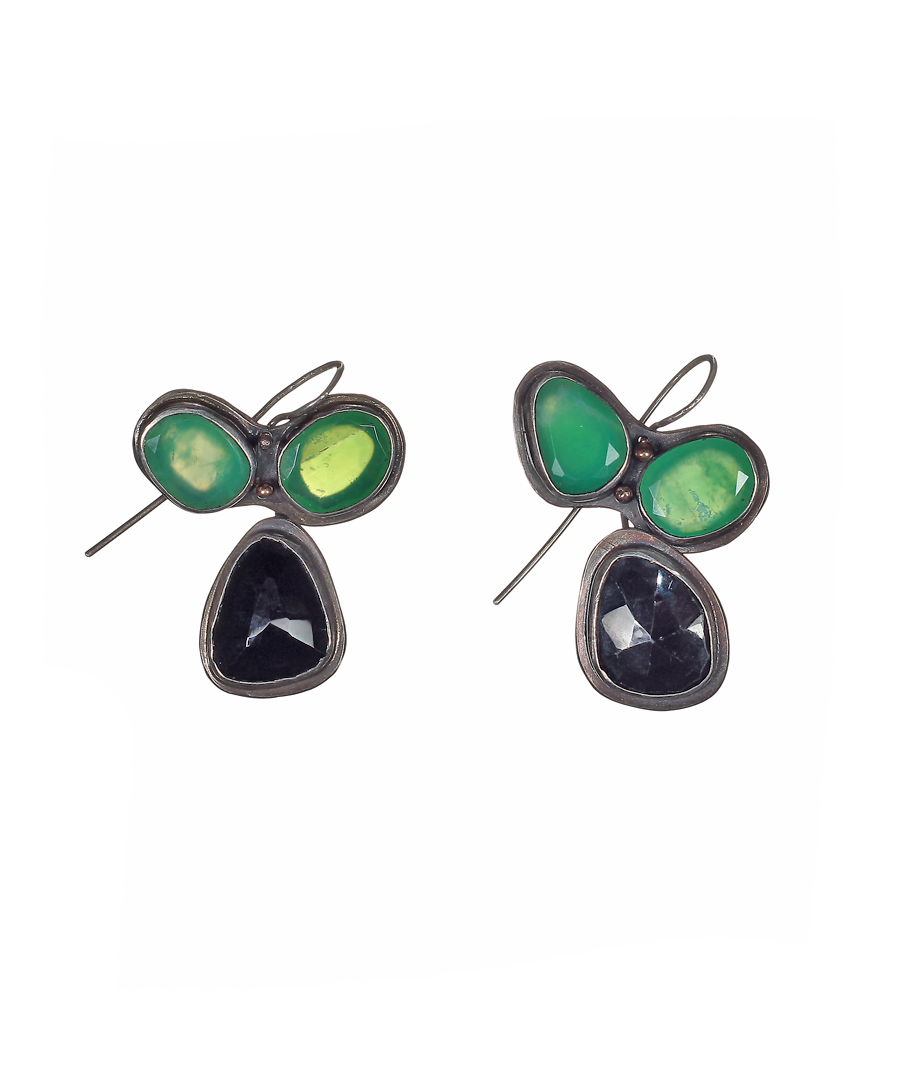 chic black small birks drop earrings bee onyx en interchangeable of and mother pearl
