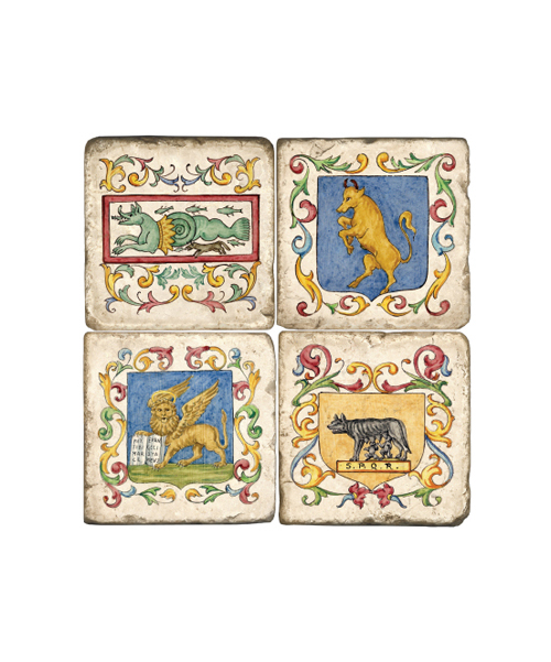 Italian Tile Coaster Set