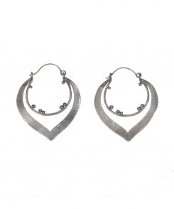 Abstract Oxidized Silver Earrings