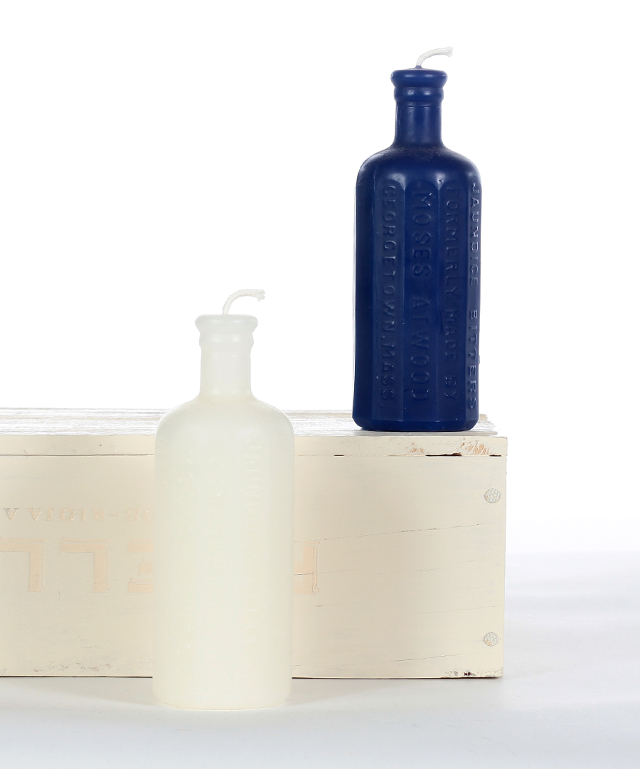 Cobalt Arched Bottle Candle