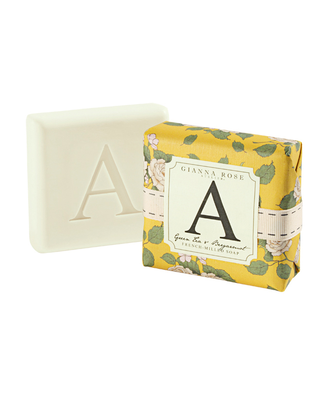 Letter A Monogram Bar Soap