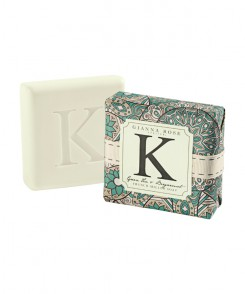 Letter K Monogram Bar Soap