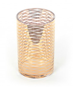 Golden Glass Ribbon Vase