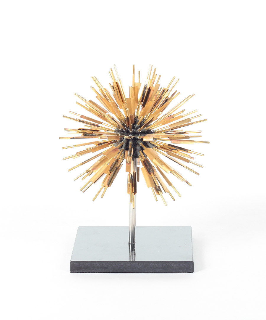 Golden Dandelion Sculpture