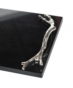 Granite and Nickel Twig Tray