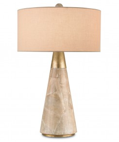Washed Wood Table Lamp