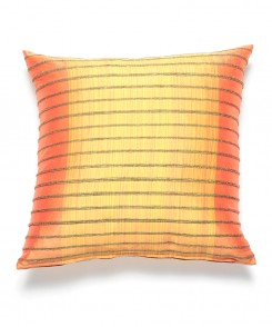 Coral and Yellow Thai Silk Pillow