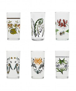 Floral Wine Glass Set