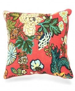 3516-73_Red_Dragon_Chinoiserie_Pillow_1